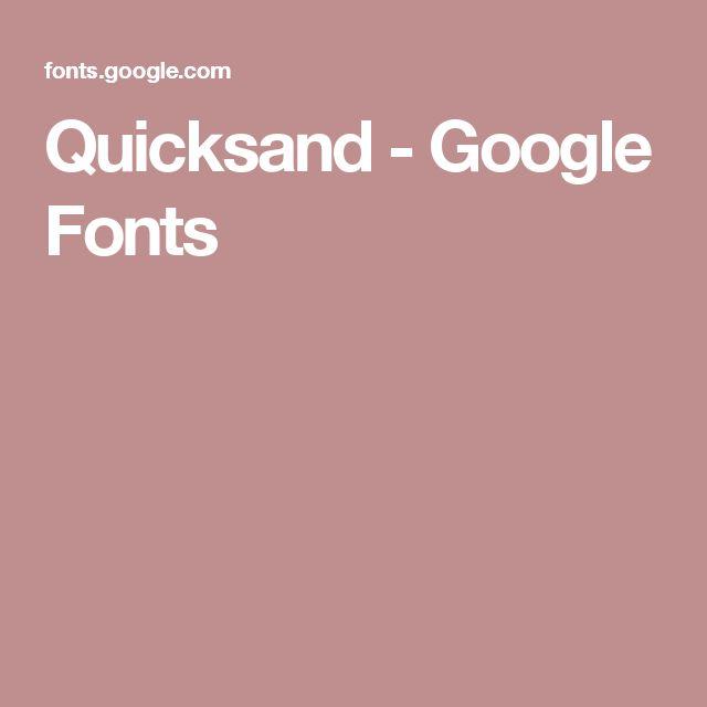 Quicksand - Google Fonts