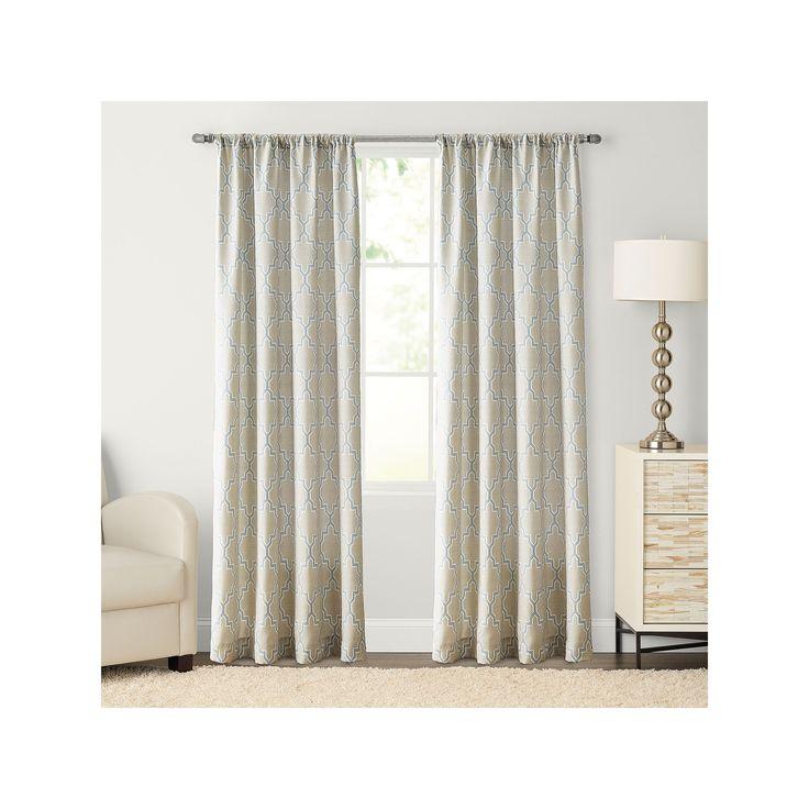 SONOMA Goods for Life™ Trellis Pole Top Curtain, Blue