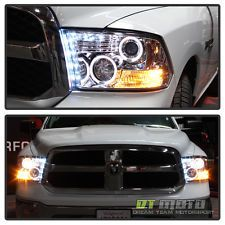 2009-2015 Dodge Ram 1500 2500 3500 Halo Projector Headlights 2010 Left+Right