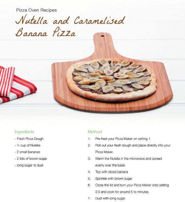 Nutella and Caramelised Banana Pizza