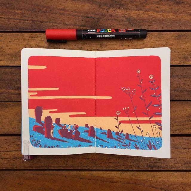 #menhirsdecarnac #sketchbook #posca #carnac