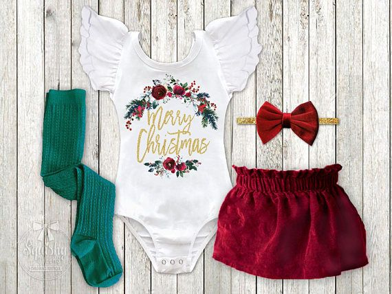 This girls Merry Christmas Outfit is the trendiest holiday outfit on the market! This outfit will surely help you make this big milestone one for the memory books! *THIS OUTFIT IS CURRENTLY RUNNING ON A 1-2 WEEK PRODUCTION TIME** The graphic quality is beyond amazing! Squishy