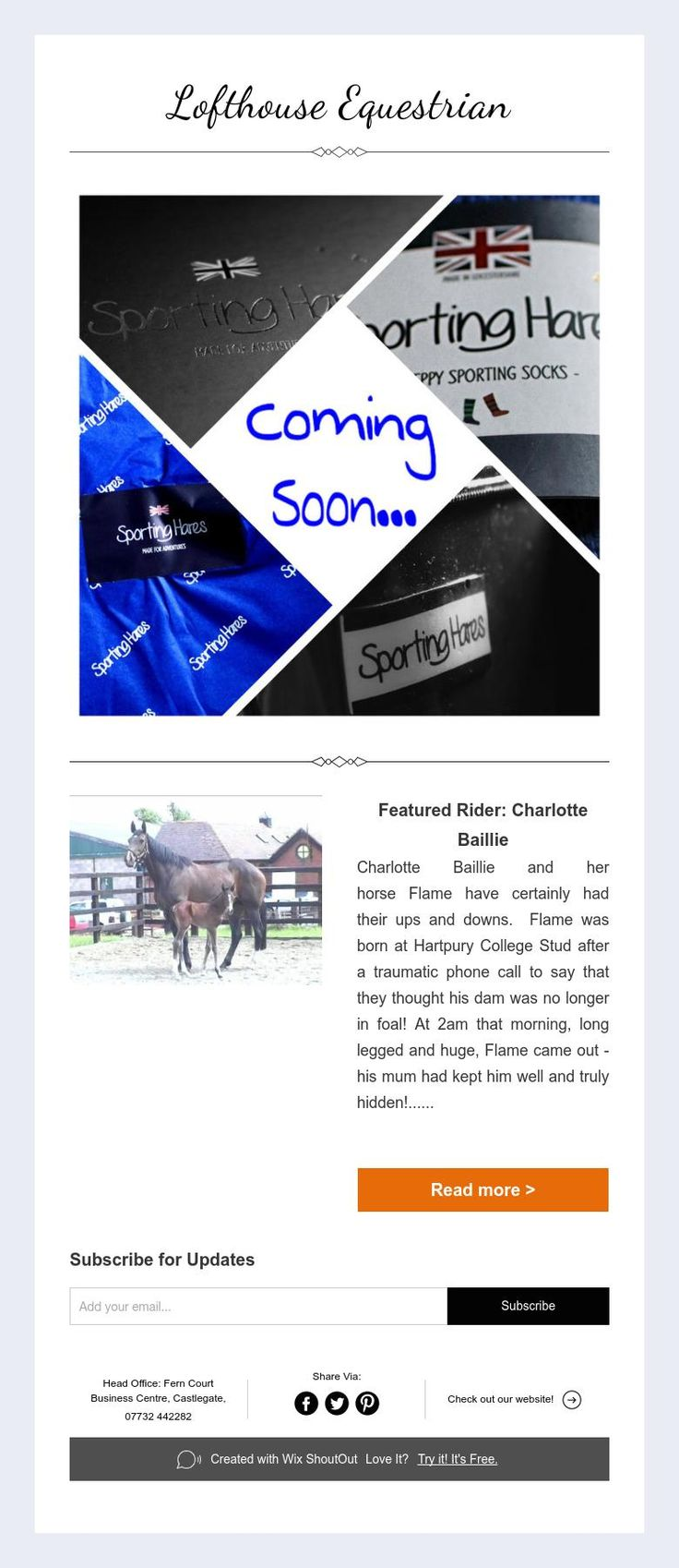 Coming soon... Sporting Hares... Featured Rider Charlotte Baillie... #LofthouseEquestrian