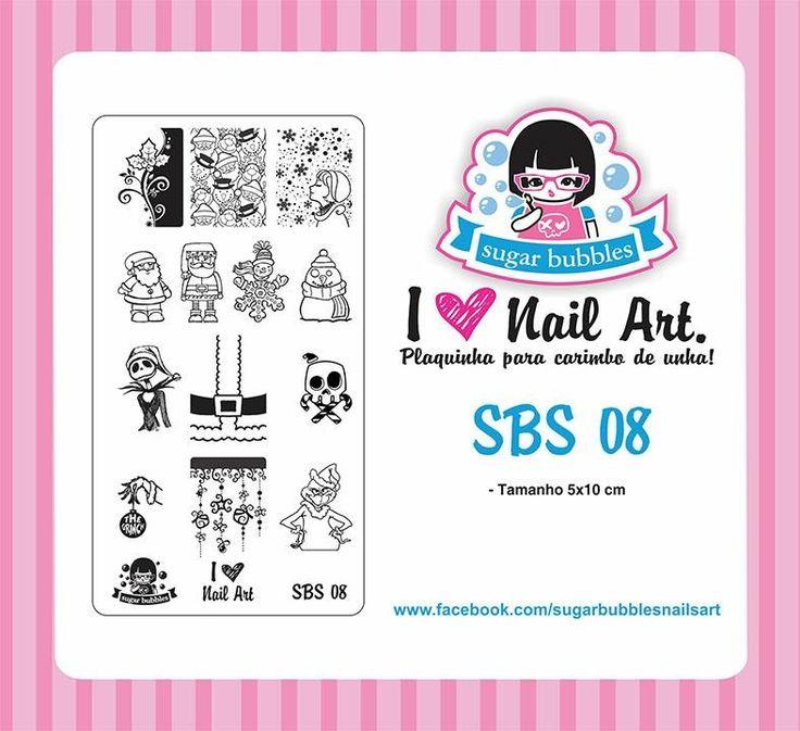Small Nail Art Stamping Plate Sugar Bubbles SBS 08