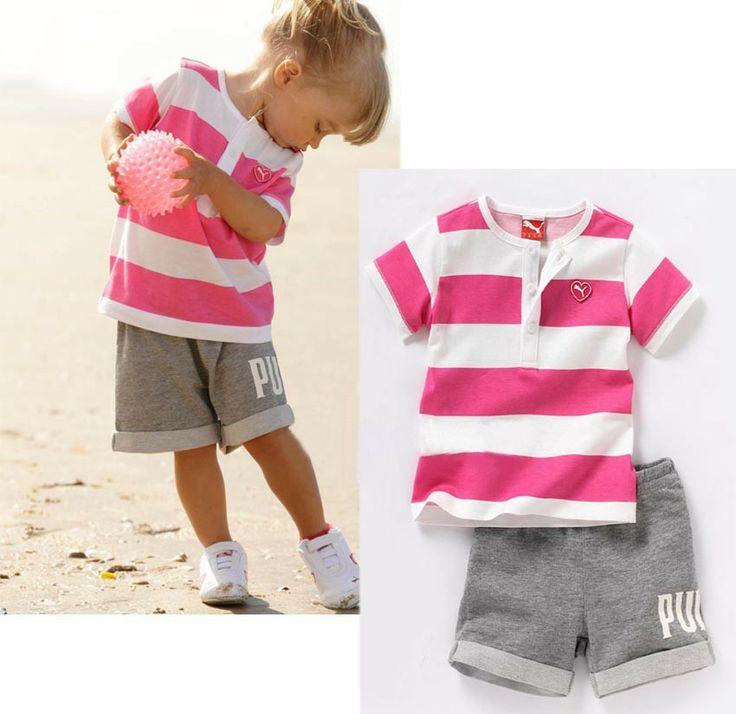 2014 горячий продавать летом новый дизайн детская одежда установить для девочки красный белый полосатой рубашке серые брюки случайных высокого качества 255,30