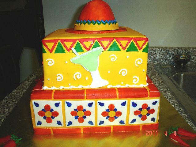 Mexican Fiesta Cake by valscustomcakes, via Flickr: Cake Ices, Amazing Cakes, Cake Ideas, Cakes Archive, Cake Art, Mexican Fiesta Cake, Cake Decorating, Birthday Cakes