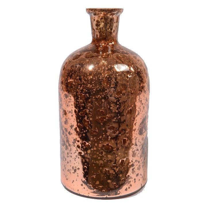 Vaas glas steenfinish. Een mooie glazen vaas met een artistiek uiterlijk. #intratuin
