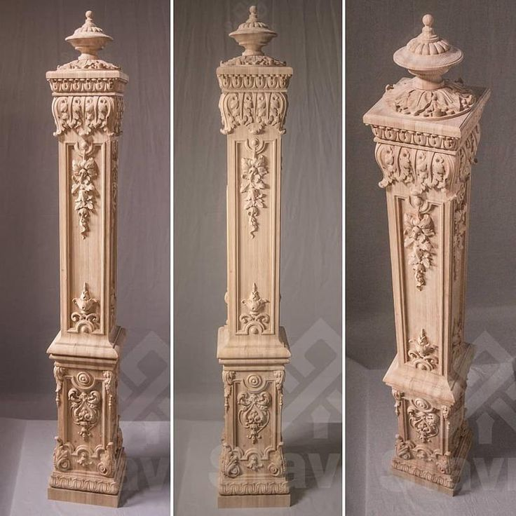 Beautiful Interior Staircase Ideas And Newel Post Designs: High Quality Carved Box Newel Post Salvage Staircase From