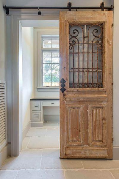 Wrought Iron Scroll Windowed Office Door Home Sweet