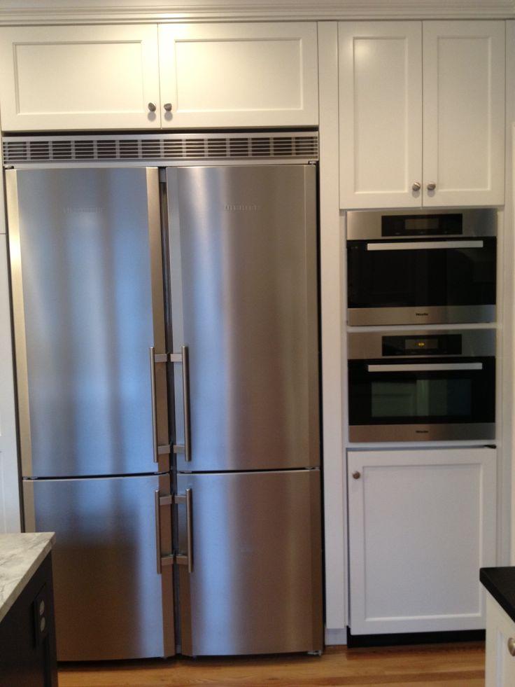 Miele Countertop Microwave : Liebherr refrigerator Miele steam oven above Miele Microwave ...