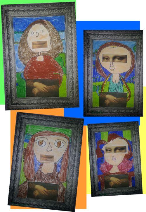 Les Jocondes de la classe Une idée sympa trouvée sur le blog de Saperlipopette
