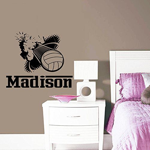 Best Wall Stckers Images On Pinterest Volleyball Volleyball - Vinyl volleyball wall decals