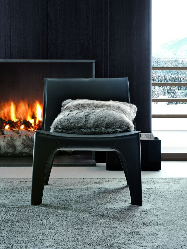 Poliform|Varenna_winter home_BB armchair in hide.