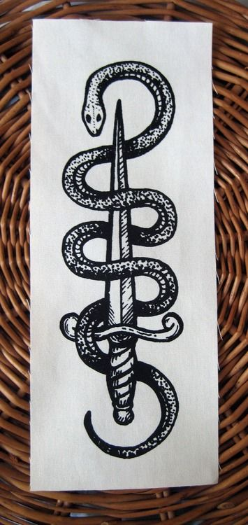 The Serpent's Dagger. New back patch by Poison Apple Printshop!