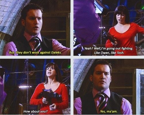 """""""Journey's End"""" Torchwood x-over into Doctor Who"""" i think its sad that jack wasn't there to help"""