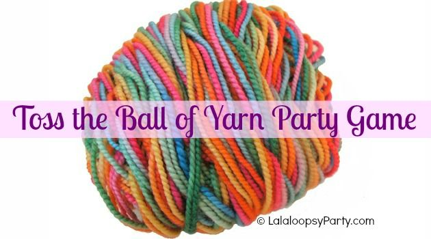 Yarn toss game for a #Lalaloopsy #party - super easy DIY game!