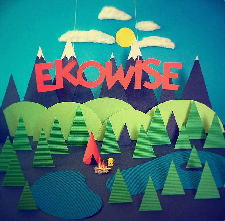 Ekowise Stopmotion Screen pic on Design You Trust. This image really captured my attention through the strong colour palette and clean cut image. I particularly enjoy the inclusion of textures, which add depth to the piece. This is something I would like to experiment with for our upcoming project.