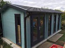 Garden Log Cabins   eBay