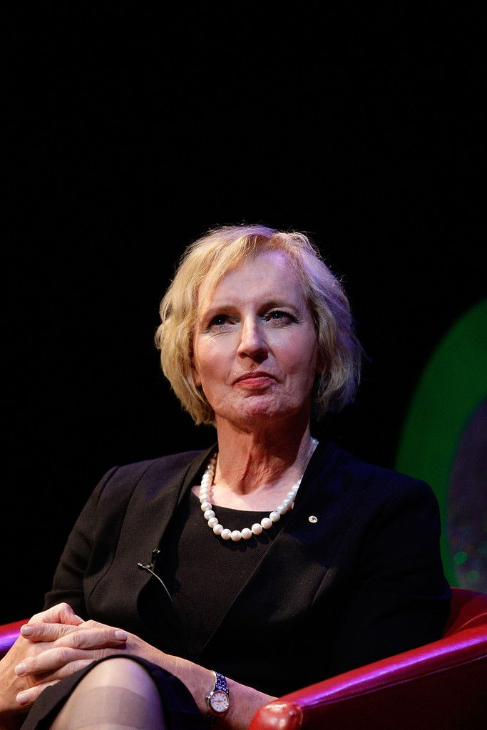 Lieutenant Colonel Cate McGregor AM joins Dr Elizabeth Riley on stage in conversation about transgender life as part of the 2014 Sydney Gay & Lesbian Mardi Gras at the Seymour Centre on February 26, 2014 in Sydney, Australia.