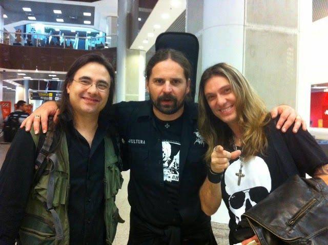 André Matos, Andreas Kisser e Edu Falaschi