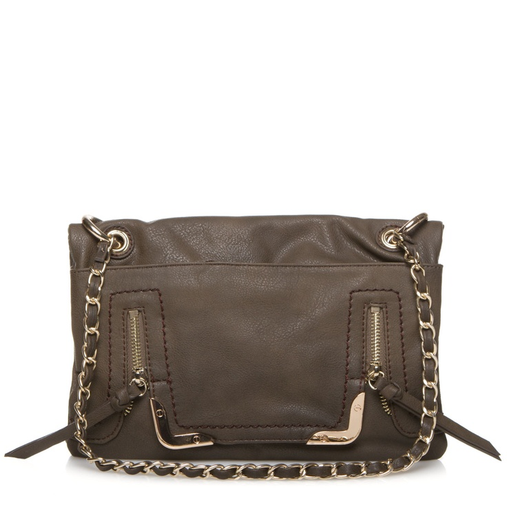 With a sleek crossbody structure, visible stitching and glinting zippers, Hines is completely divine.    FOR WHEN YOU FEEL like sightseeing in style.     ACCESSORIZE with a stretchy metal cuff and glittery studs.     DESIGN DETAIL: A chain-link strap lends just a hint of Parisian flair.