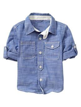 Convertible chambray shirt | Gap