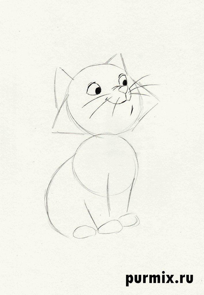 Как нарисовать Берлиоза из мультфильма Коты Аристократы
