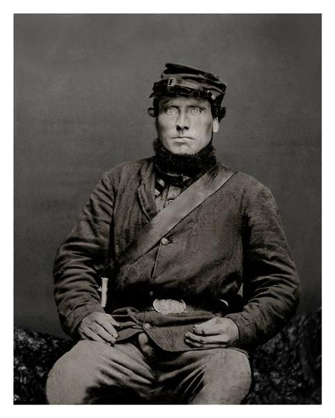 Michael Maloney. He emigrated from Ireland to Minnesota, where he was drafted into the Union Army in 1864. His regiment served mainly in Georgia. He survived the war and died at age 54 in 1884.: Soldiers, Civil War, Portraits, War Era