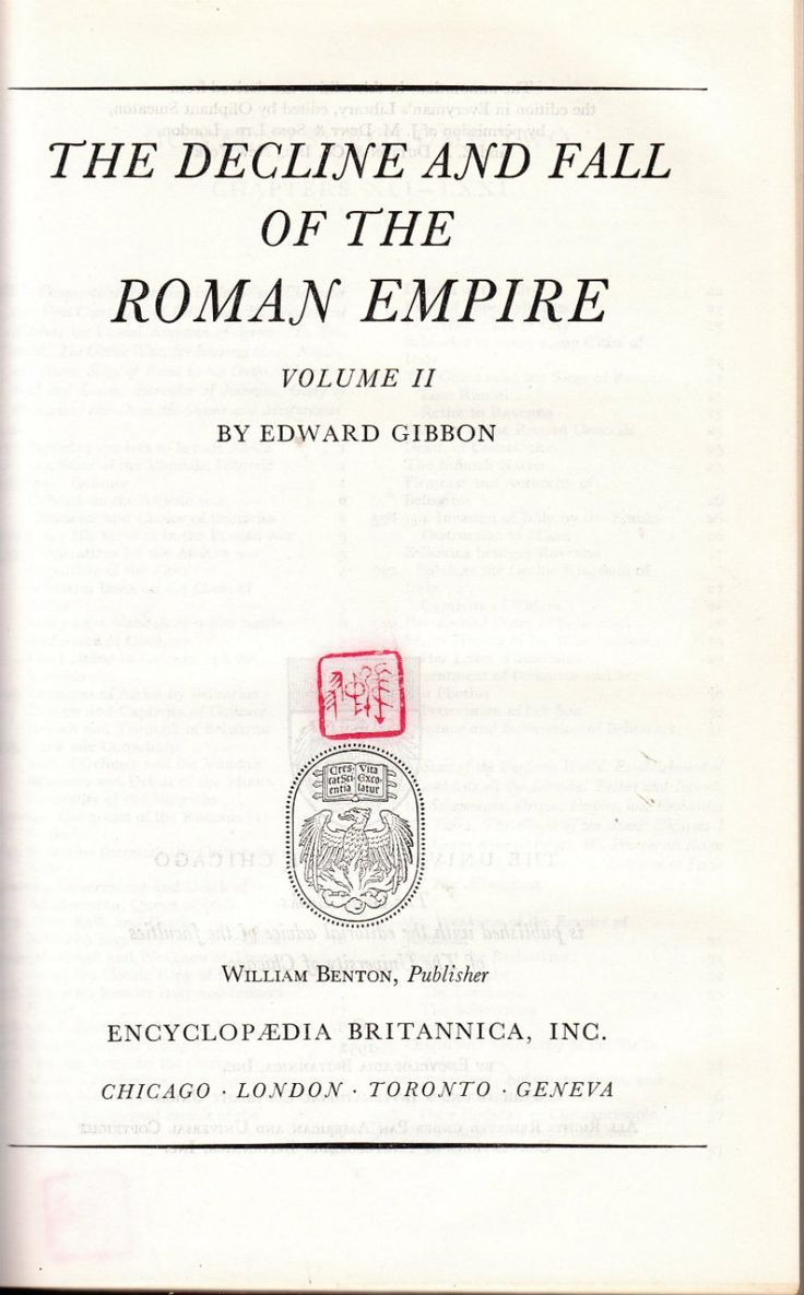 The Decline and Fall of the Roman Empire Volume II - Great Books of the Western World Volume 41