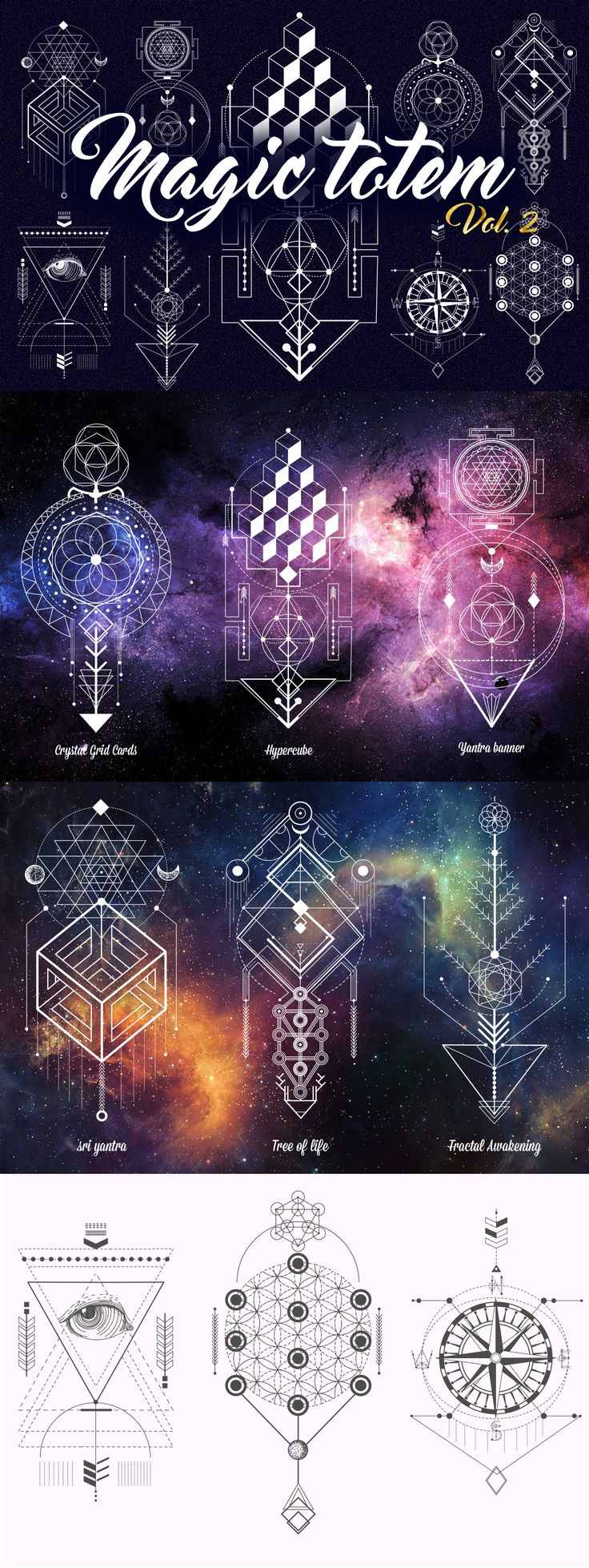 Best 25 geometric symbols ideas on pinterest geometric tattoo sacred geometry magic totem vol2 buycottarizona