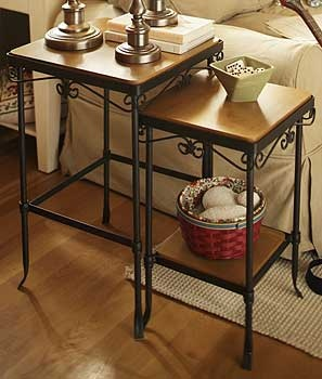 Wrought Iron Nested Tables are on my wish list!! Longaberger makes very beautiful, durable tables. Great space saver too!!!