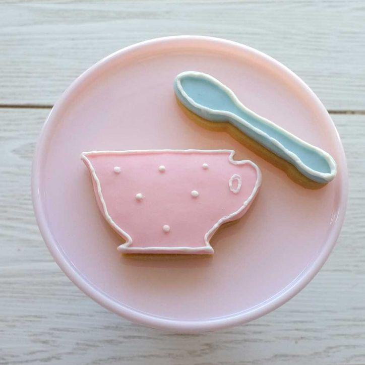 Süsse Teetasse ausstecher.