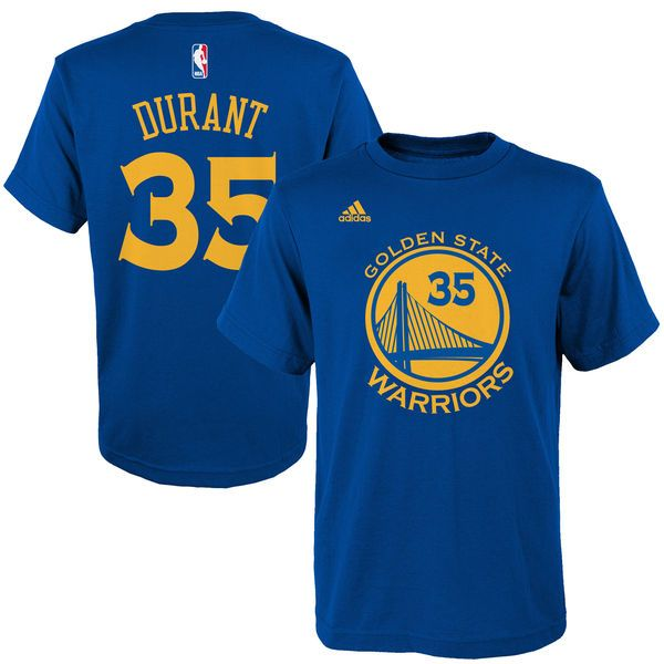 Kevin Durant Golden State Warriors adidas Youth Name & Number T-Shirt - Royal
