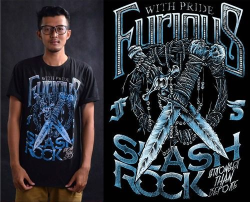 last project DONE for Furious X Slash Rock clothing