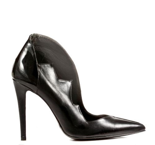 STATHIS SAMANTAS / Calfskin and patent leather pump Heel: 10.5cm