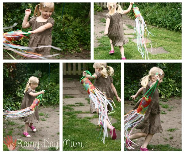 how to make a windsock from a plastic bottle