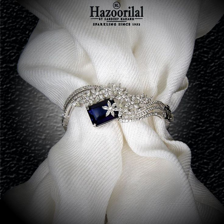 Tanzanite encapsulated by the diamonds make this magnificently exquisite bracelet only from the House of #HazoorilalBySandeepNarang #Tanzanite #Style #Glamour #FineJewelry #Hazoorilal