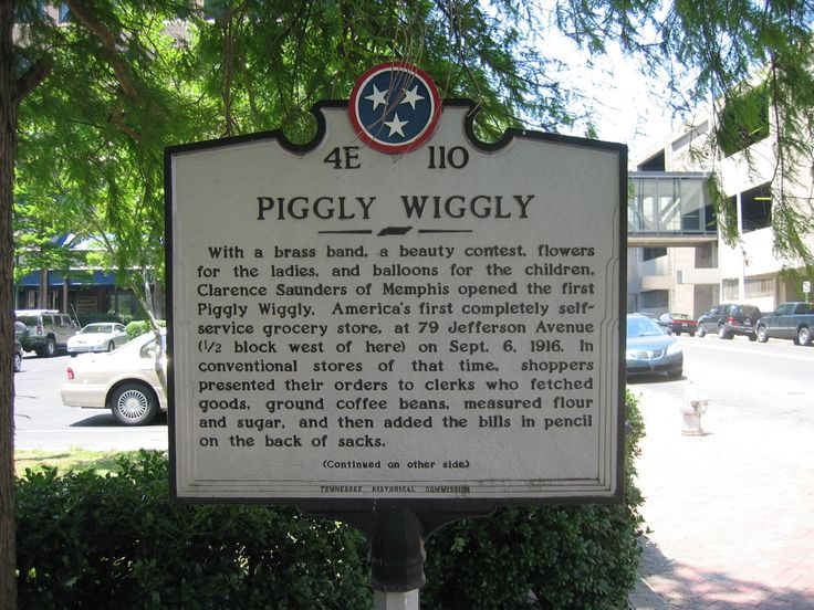 Piggly Wiggly America's 1st self service grocery store