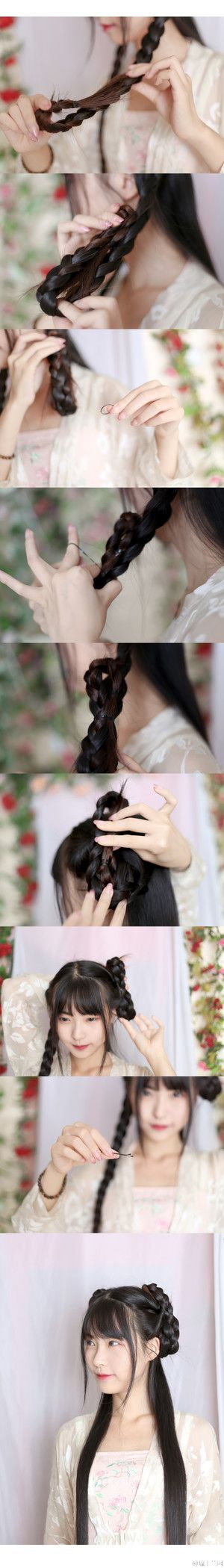 Braided Chinese hairstyle