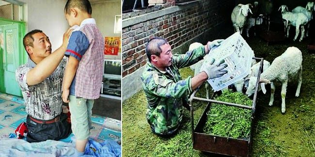 Wang Xiaobing, Pekerja Keras yang tidak mempunyai Kaki