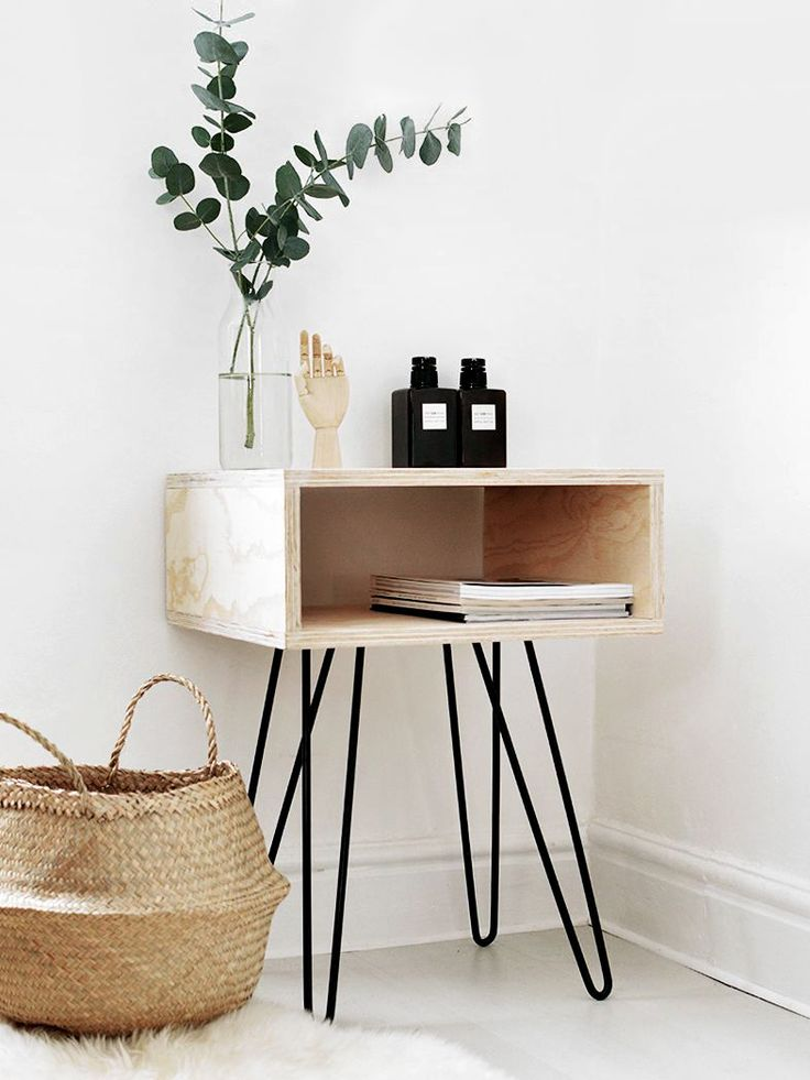 Your bedroom is the perfect place to implement pared-back style. We've rounded up seven simple DIYs using raw wood for some seriously cool bedroom inspiration.1. DIY Mid Century Nightstand   ...