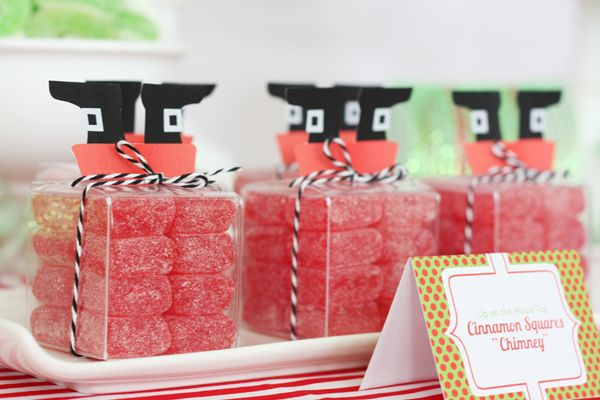 santa-inspired candy packaging