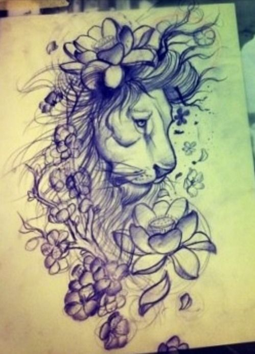 So I've decided that this is the tattoo that I'm getting to finish off my back. I want the flowers colored in red, yellow & green with those colors swirled around it :)