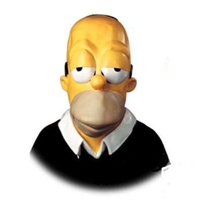 Homer Simpson mask for hire The Simpsons started dec. 1989