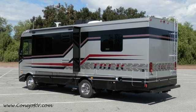 2016 New Monaco Trek 26HMD with Magic Bed and Full Body Paint Class A in California CA.Recreational Vehicle, rv, 2016 Monaco Trek 26HMD with Magic Bed and Full Body Paint, **79,990** Ford Chassis, 362hp Triton V-10, Torque-Shift 5 Speed Automatic Transmission with Tow/Haul Mode(Grade Brake), Onan Quiet Gas 4kw Generator, Automatic Hydraulic Levelers, Color Side and Rear Cameras, Private Rear Bedroom with Monaco Trek's Patent Pending Bed-Lift Feature that adds Huge New Interior Storage. By…