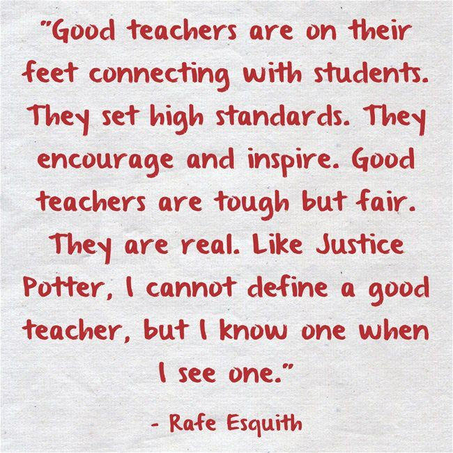 Thoughts And Guidelines For Preparing Teachers For School: The 25+ Best Good Teacher Quotes Ideas On Pinterest