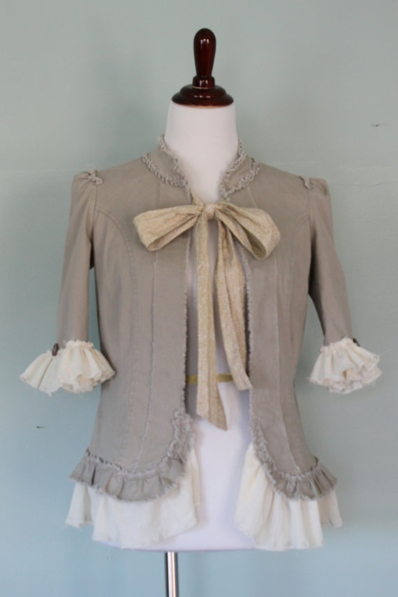 Women's Jacket Shabby Chic Boho Cottage Chic by JosefineandMe, $42.00