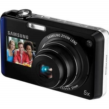 Samsung TL210 DualView 12.2 MP Digital Camera with 5X Optical Zoom and 3-Inch LCD Screen and 1.5-Inch Front Screen (Blue) by Samsung. $219.99. Whether youre taking a self-portrait in your living room or posing with friends on vacation, the new TL210 gets it right every time. Its dynamic Dual Display feature lets you see the shot on the 3.0 230k TFT LCD and 1.5 Front LCD before taking it, so you can smile for the camera and be the photographer at the same time. The T...