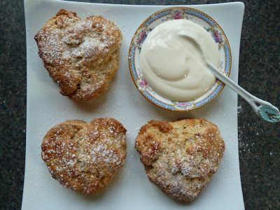Apricot and Yogurt Scones serve with yogurt and a little jam to keep ...