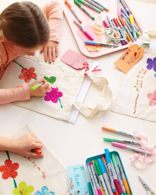 DIY Iron On Kids Tote